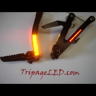 RVT RC51 LED Rear Passenger Pegs